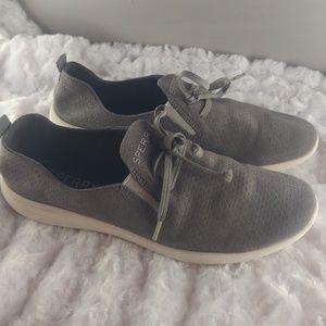 Gray Sperry Top-side Rio Aqua Slip On Sneaker